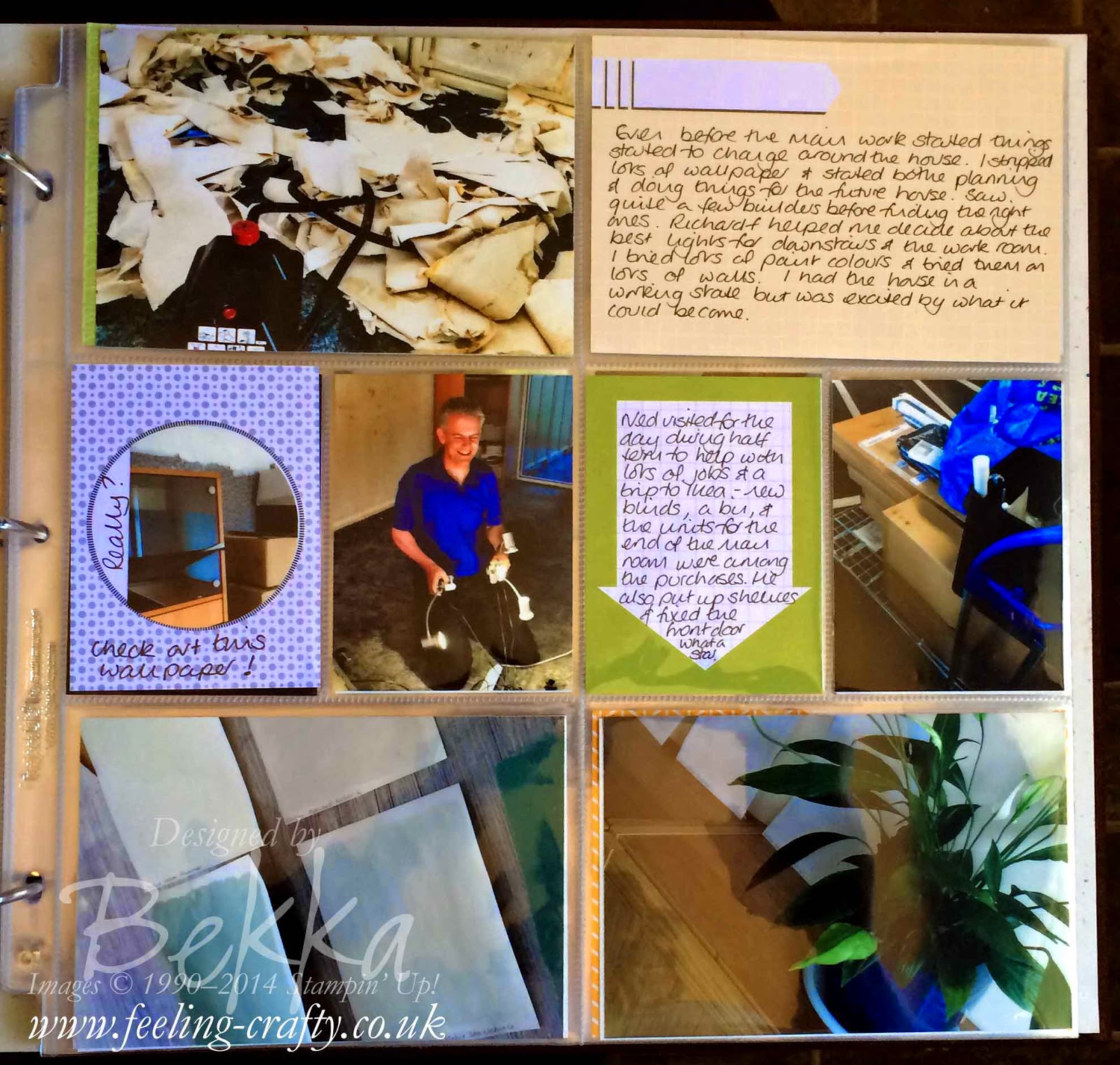 Project Life by Stampin' Up! Pages showing a house renovation project by Bekka check it out here