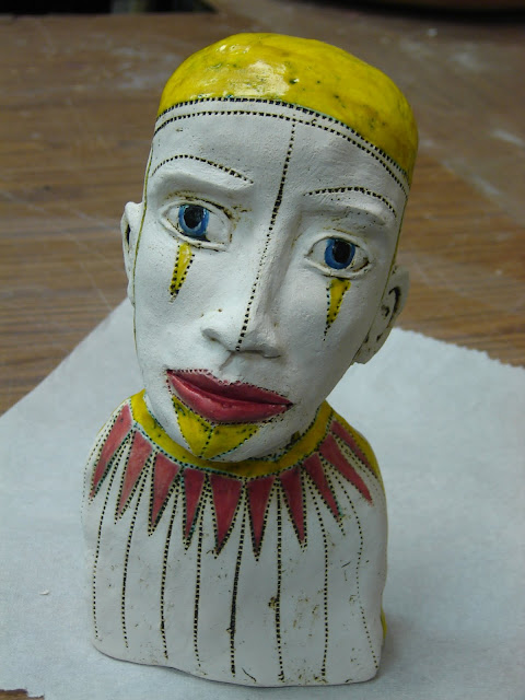 Sad Clown with Yellow Cap