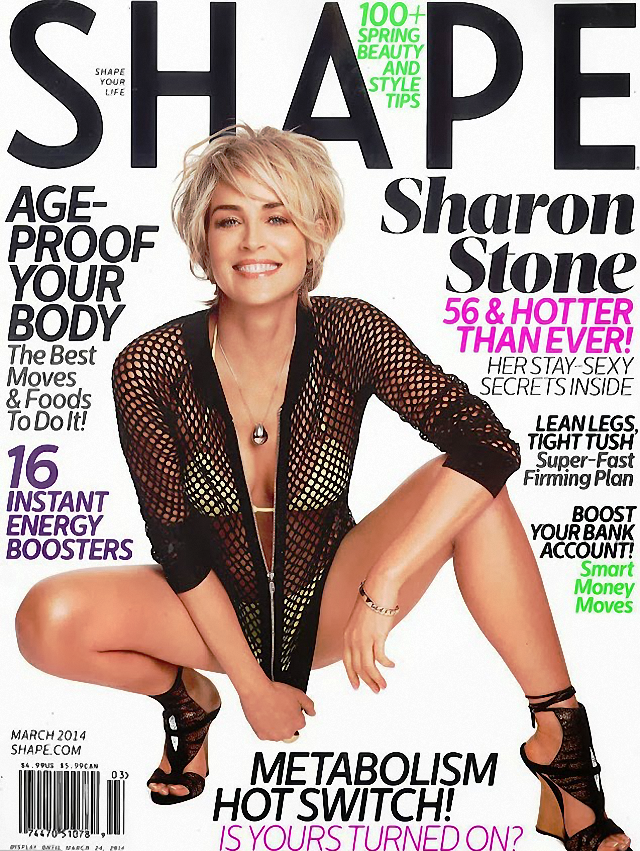 Sharon Stone en Shape Magazine