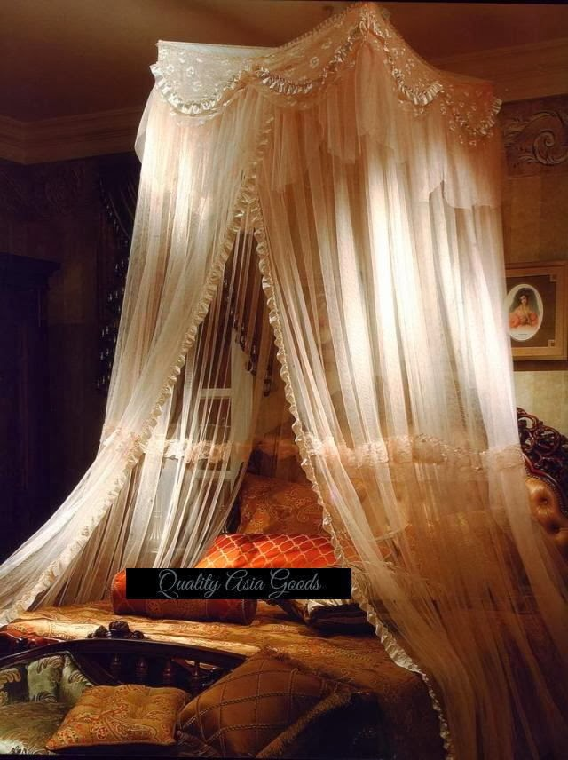 Moroccan Bed Canopy eye for design: decorating your bed with gauze canopies