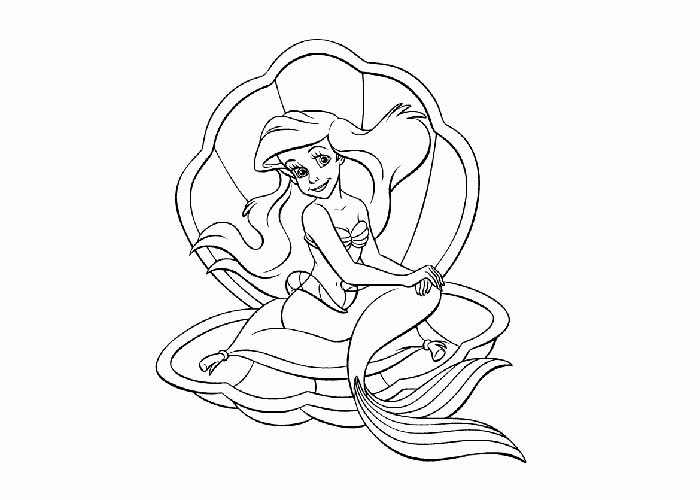 Little Mermaid coloring pages | Free Coloring Pages and Coloring ...