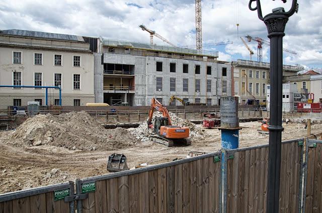Baustelle Kronprinzengärten, Oberwallstraße / Werderscher Markt, 10117 Berlin, 16.04.2014