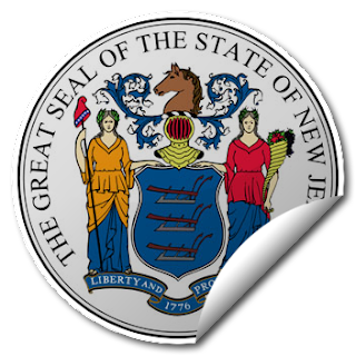 Sticker of New Jersey Seal