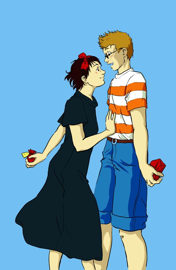 Kiki et Tombo ont bien grandi - fanart Miyasaki