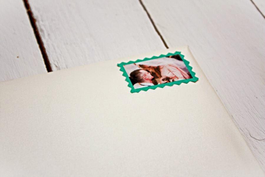 znaczek pocztowy na zaproszenie ślubne