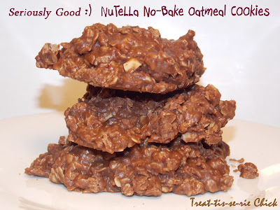 Treat-tis-se-rie Chick: NuteLLa No-Bake Oatmeal cOOkies