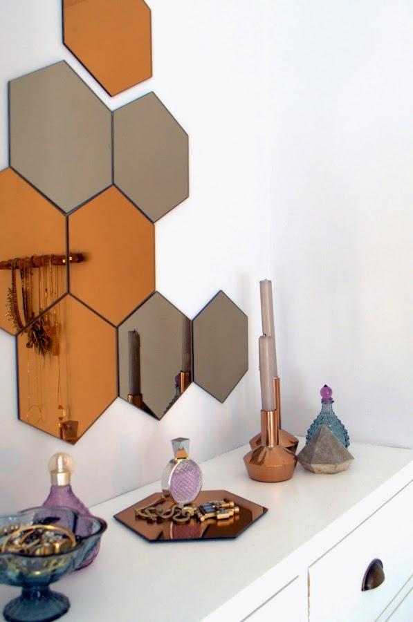 Deco crea tu espejo con h nefoss de ikea decoraci n for Espejo hexagonal ikea