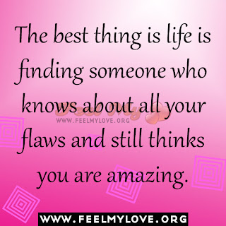 The best thing is life is finding someone