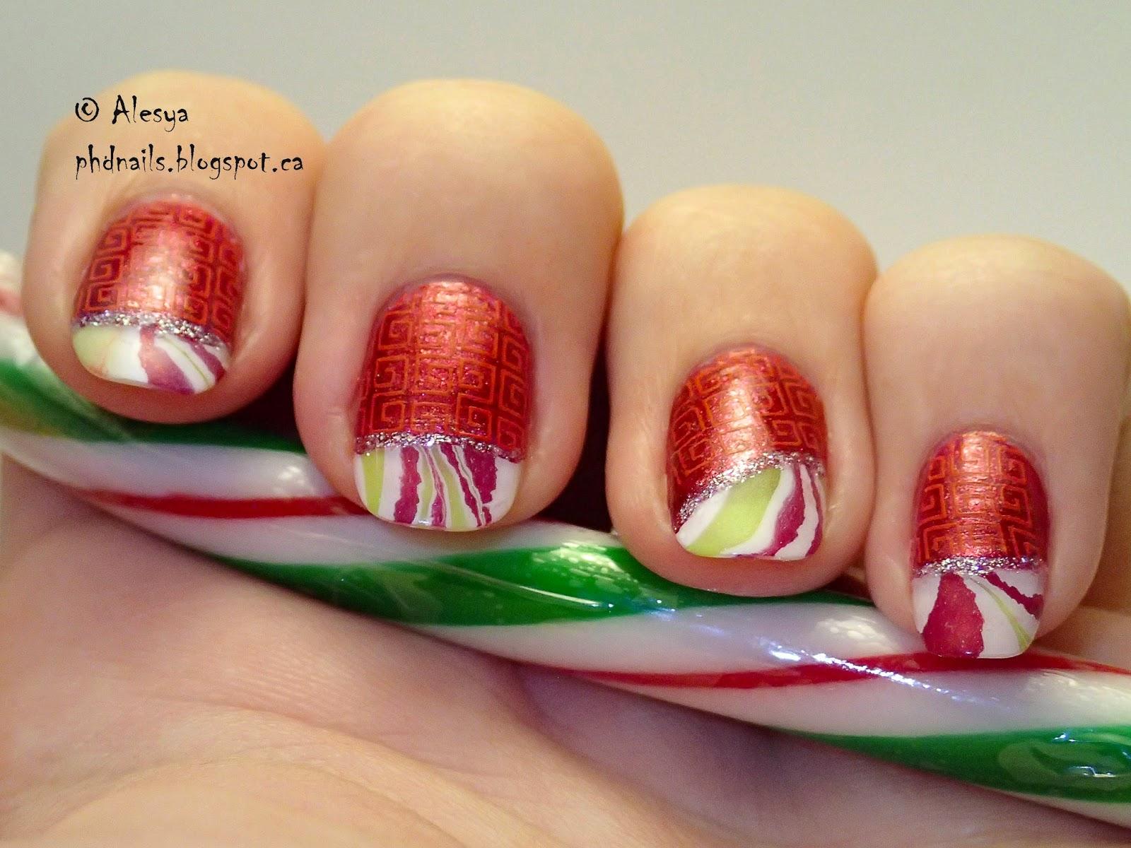 phd nails  winter nail art challenge  christmas candies