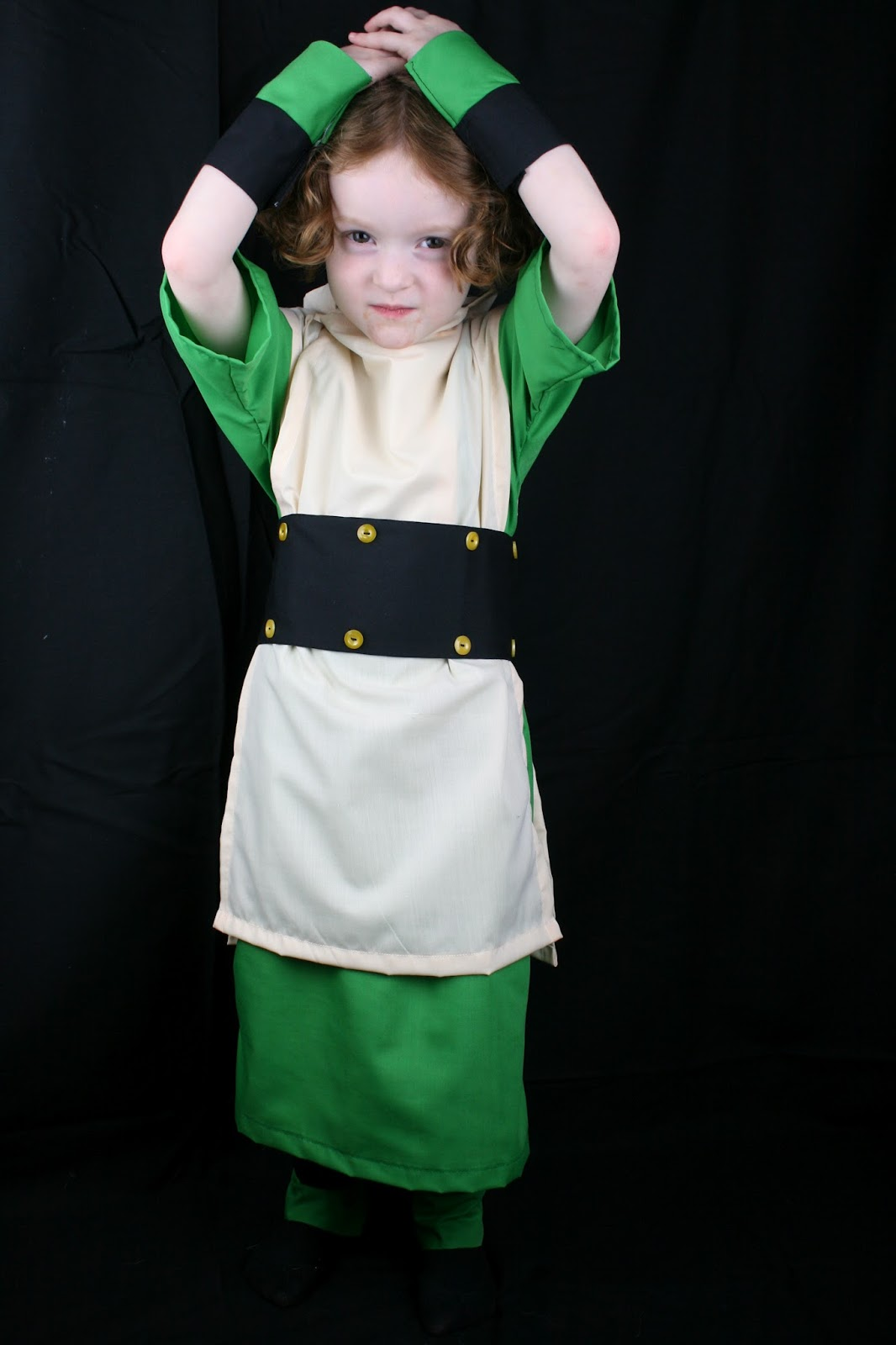 toph from avatar the last airbender ive been busy sewing halloween costumes this week