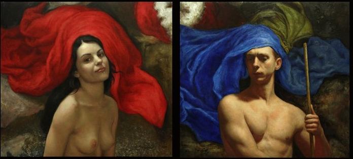 Cesar Santos 1982   cubano pintor figurativo estadounidense   Retrato Desnudo