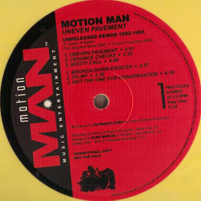 Motion Man ‎– Uneven Pavement EP – Unreleased Demos 1992-1993 (2012, VLS, VBR V0)