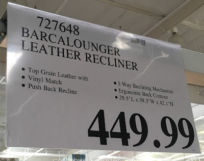 Deal for the Barcalounger Leather Recliner at Costco