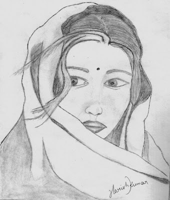 Drawing of Woman Face