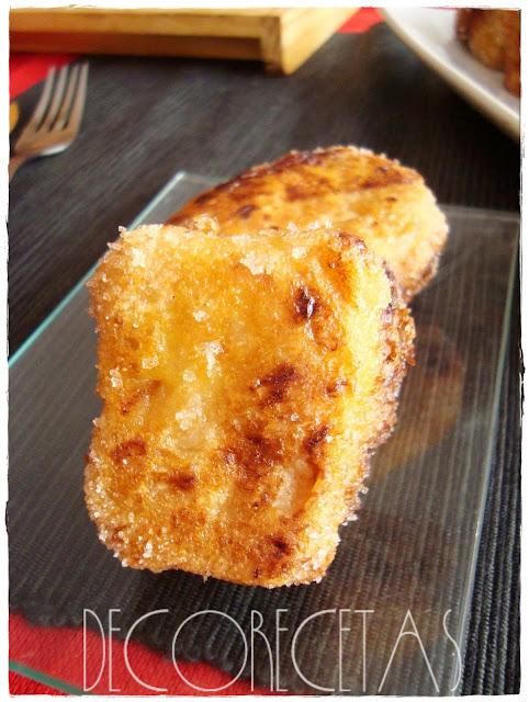 Leche frita de turrón de jijona