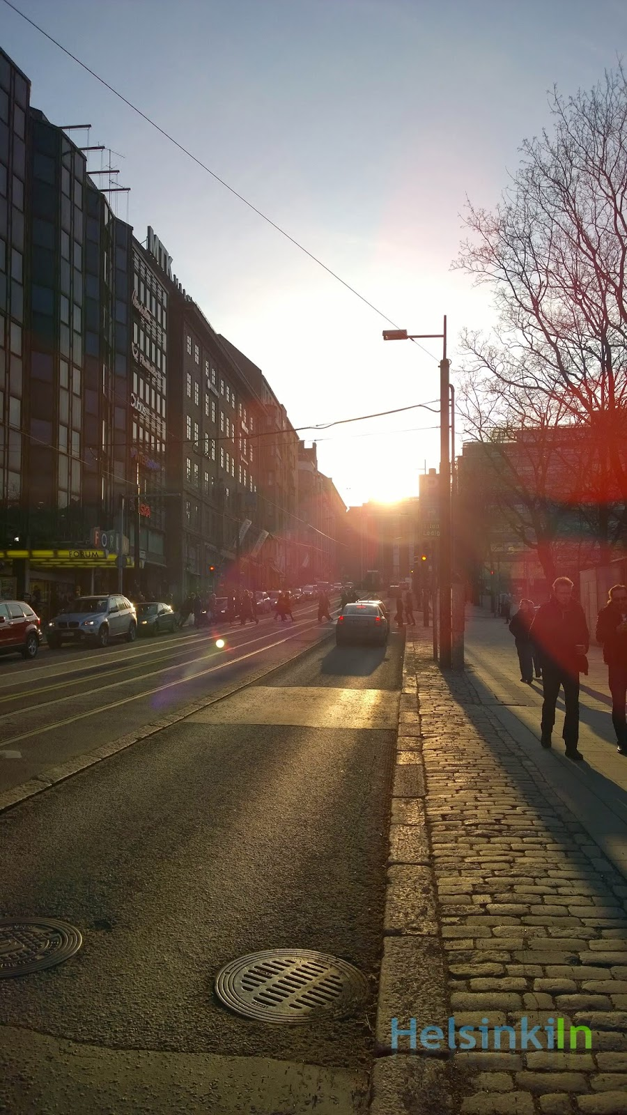 sunshine in the city center