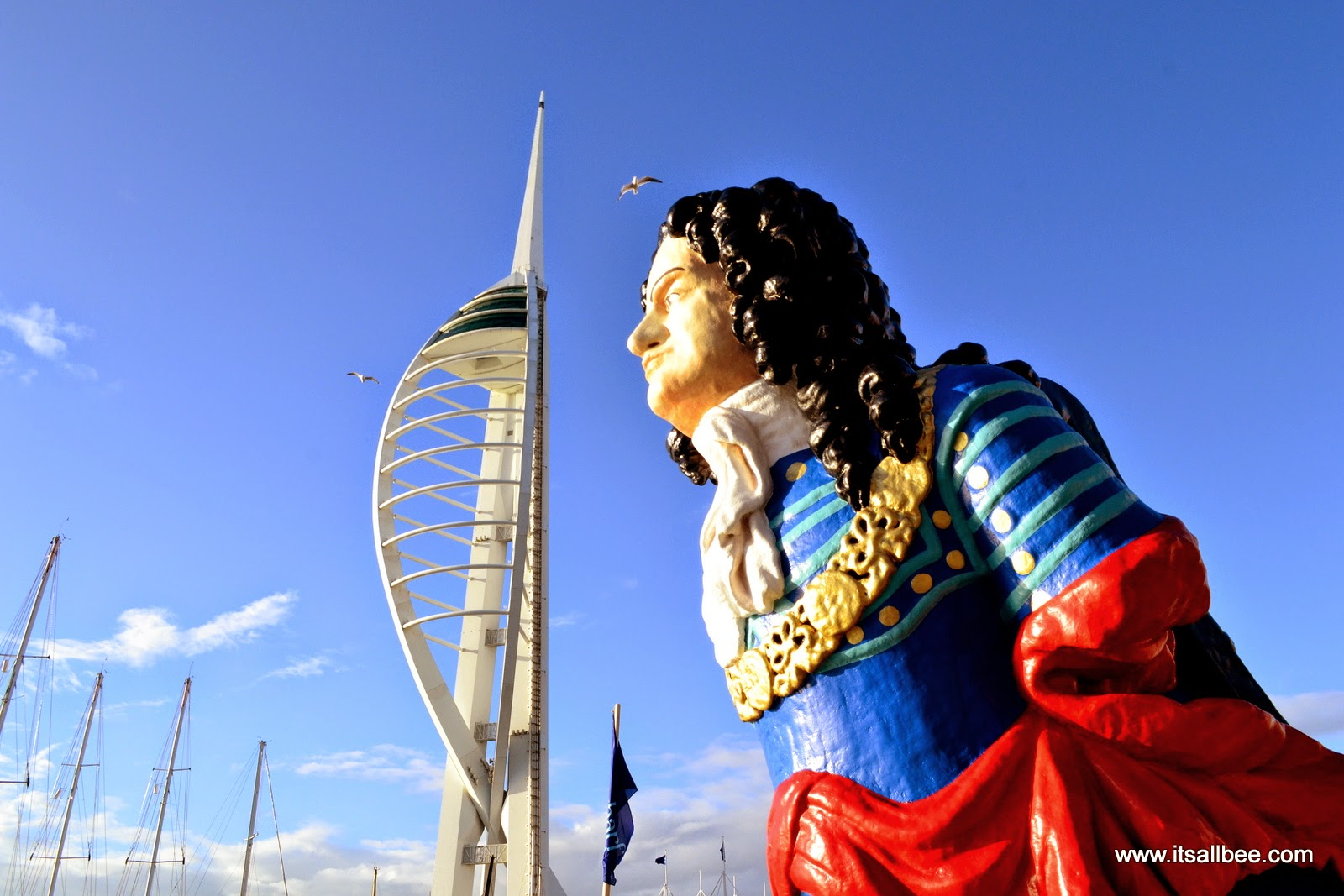 Spinnaker  tower, a 170-meter landmark tower PORTSMOUTH