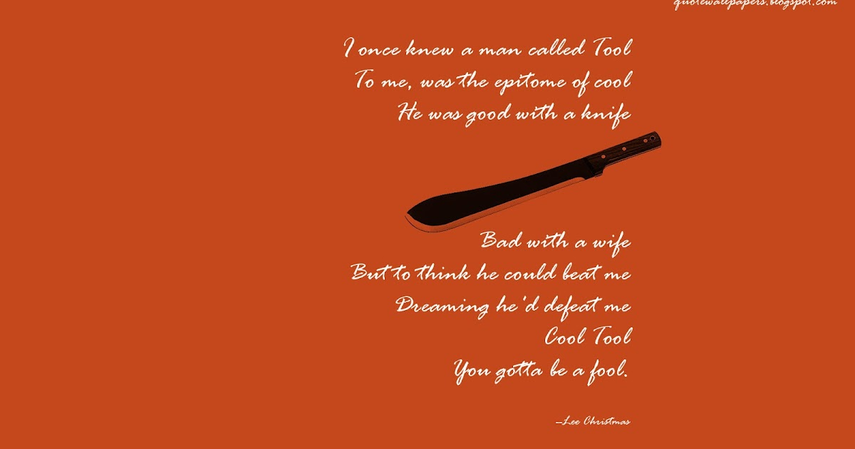 Quote Wallpapers HD: Coot Tool - You gotta be a fool