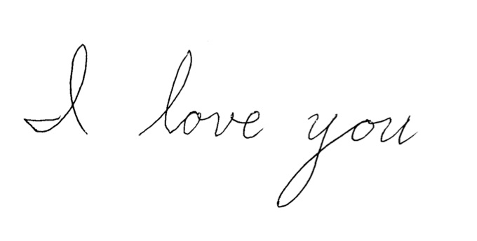 margaret shepherd calligraphy blog february 2012 i love you in cursive letters