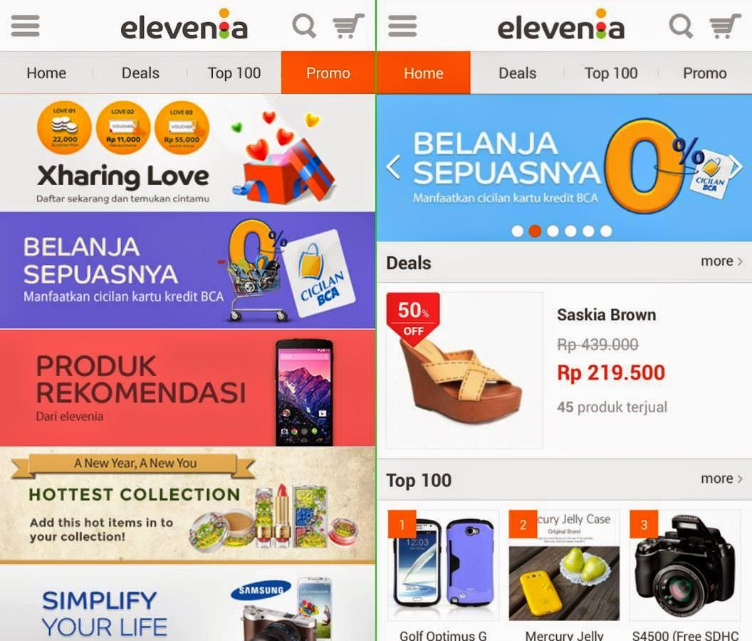 Aplikasi Resmi elevenia .apk untuk Android gratis versi update terbaru