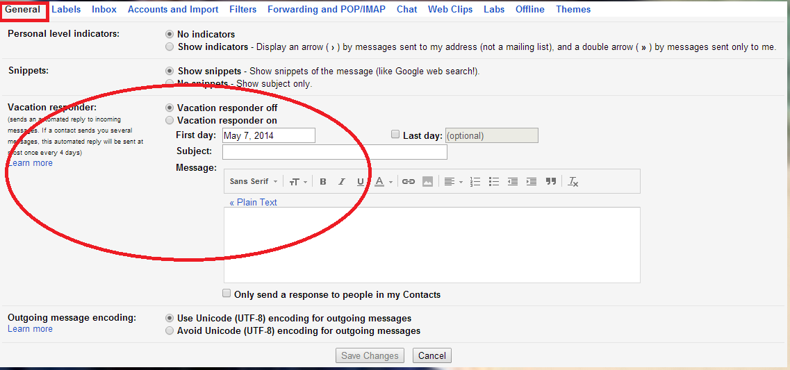 Vacation Responder of Gmail http://letmeconnect.blogspot.in/