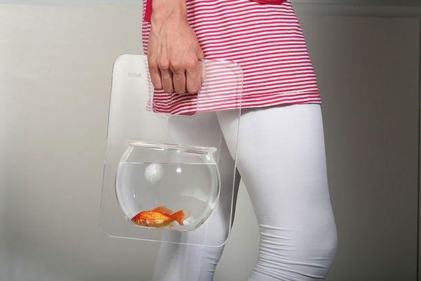 20 Akuarium Paling Unik dan Kreatif di Dunia : Portable Fishbowl