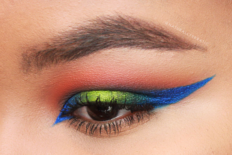 Bright Makeup, Neon Makeup, Neon Green Eye Shadow, Sugarpill Cosmetics, Sugarpill Makeup, Acidberry, Velocity