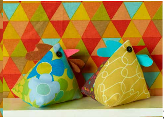 Jane Bull's Get Set, Sew sample project stuffed chickens