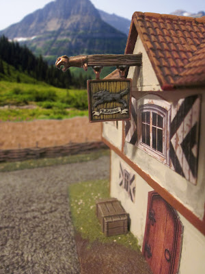 The Leaping Wolf Inn - Sign post