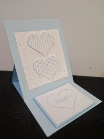 Simple easel card zena kenedy independent stampin up demonstrator