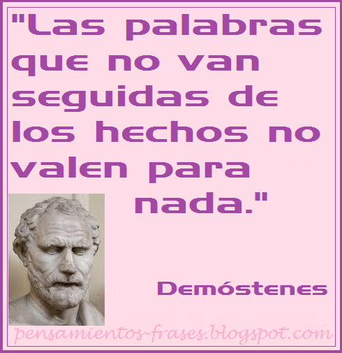 frases de autoayuda de Demóstenes
