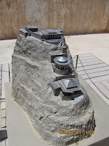 Model of King Herod's Northern Palace at the prow of Masada, overlooking the Dead Sea (Israel)