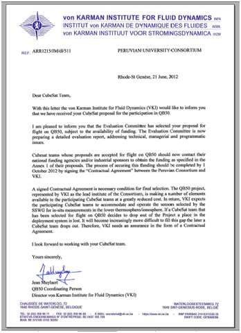 Support Letter Peruvian University Consortium