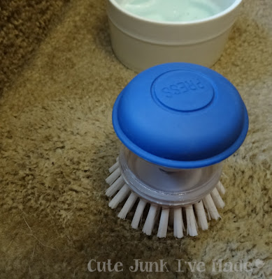Miracle carpet cleaner, scrubber, lather