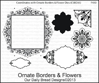 Stamps - Our Daily Bread Designs Ornate Borders & Flowers