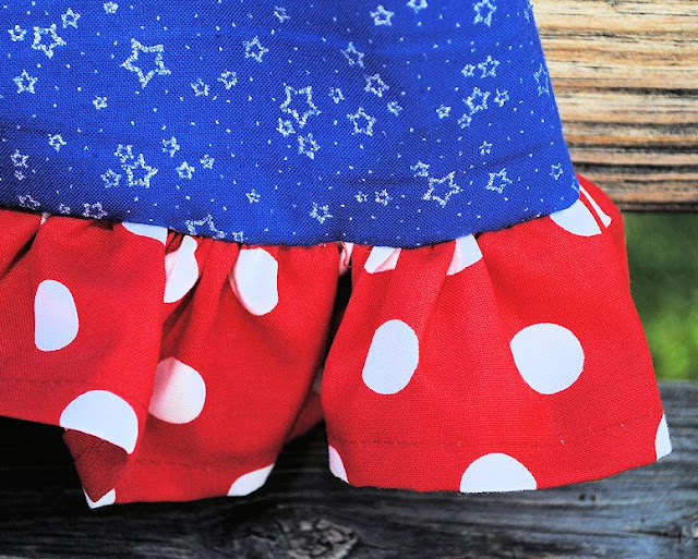 Red white and blue baby dress