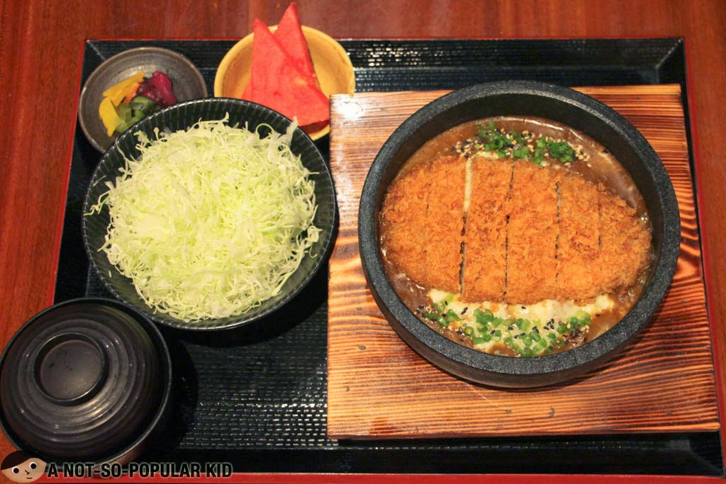 The Catsu Curry Don Set meal of Yabu