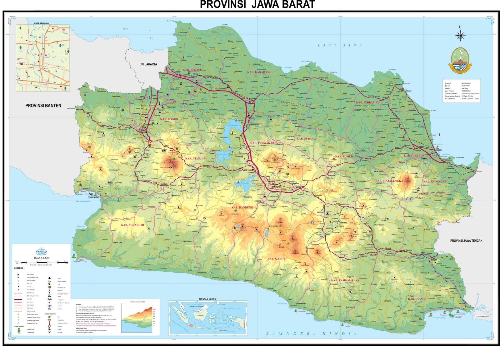 Peta Provinsi Jawa Barat ...