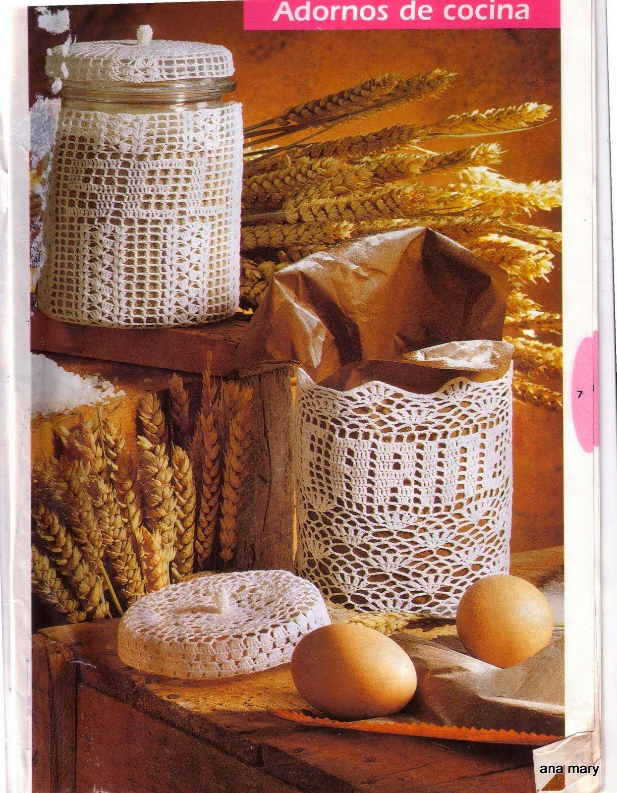 Adornos para la cocina al crochet todo crochet Adornos metalicos para pared