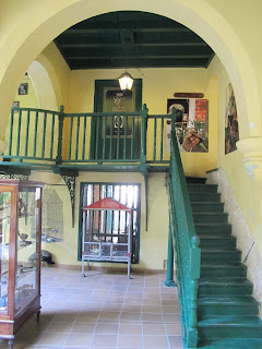 Stairs up to the Casa de Habano Cigar Shop at the Hotel Conde de Villanueva