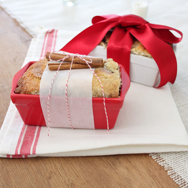 Holiday or hostess gift idea with easy cinnamon bread recipe