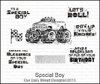 Our Daily Bread Designs Special Boy Stamp Set