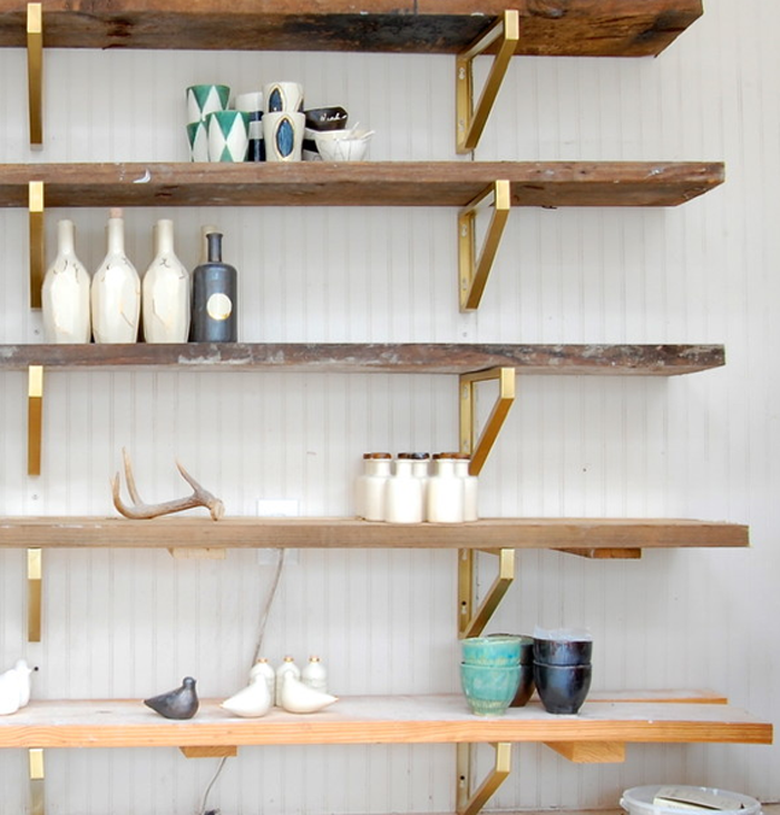 ikea hack, Ekby Lerberg brass shelves