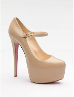 Christian Louboutin mary jane nude Kim Kardashian Kim Kardashian Mary Jane Pumps