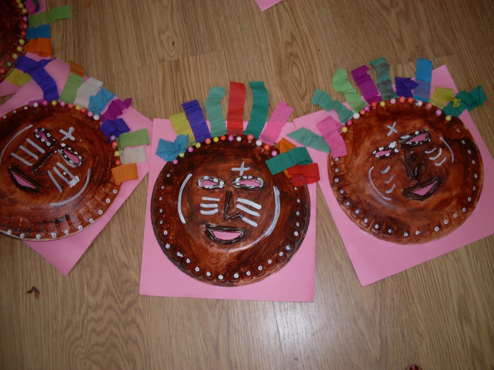 Tribal Face Wall Hanging & Roohi\u0027s Collections: Paper Plate Craft - Tribal Face Wall hanging