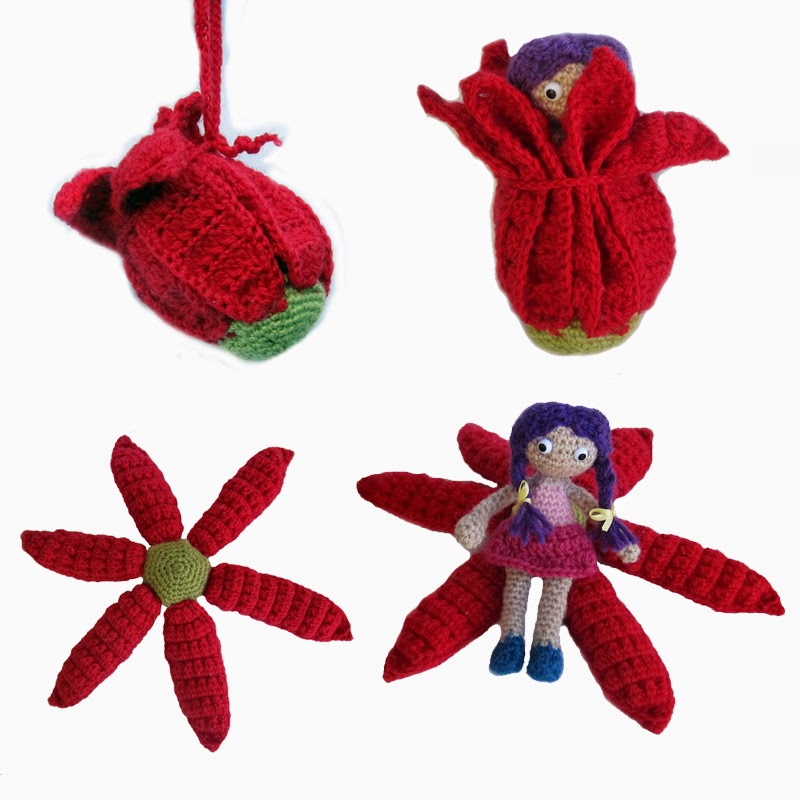 Amigurumi Flower Girl Crochet Pattern