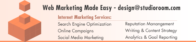Let us help you make web marketing easy! design@studioroom.com