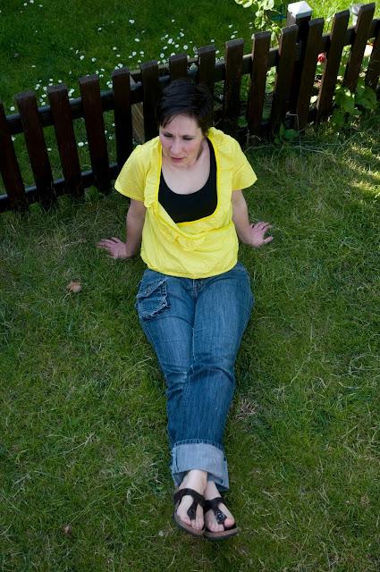 Tunique cache-coeur en voile de coton jaune