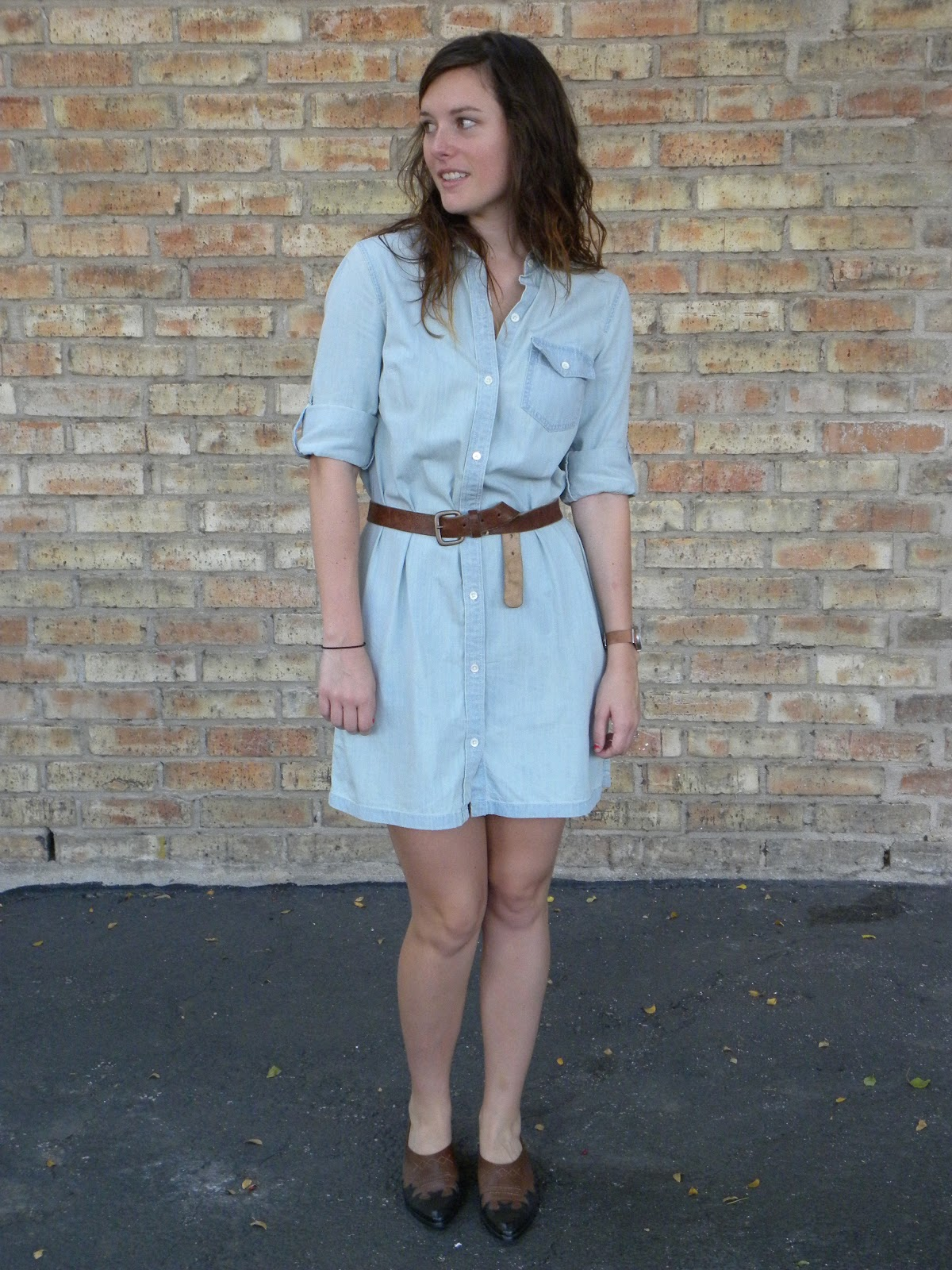 If I Must Say So Western Booties And A Chambray Dress