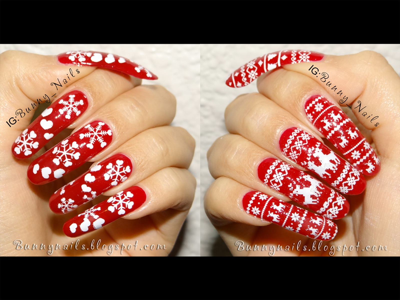 Bunny Nails: Merry Christmas! Nice and Naughty Nail Art